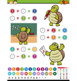 math game cartoon vector image vector image