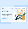 medical care patient lying in bed with dropper vector image vector image