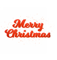 Merry Christmas Poster Template Isolated vector image vector image