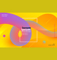 modern bright gradient loop banner vector image