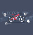 modern electric bike infographic vector image vector image