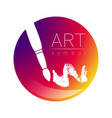 modern logo sign of drawing art paint brush in a vector image vector image