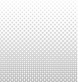 Monochrome geometric angular square pattern vector image vector image