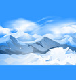 mountains peak with snow scene vector image vector image