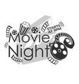 movie night start at 9 pm invitation to cinema vector image