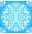 Ornate vintage blue lacy seamless pattern vector image vector image