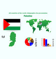 palestine all countries of the world infographics vector image vector image