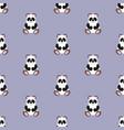 panda bapattern seamless vector image vector image