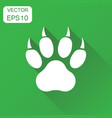 paw print icon business concept dog cat bear paw vector image vector image