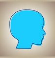 people head sign sky blue icon with vector image