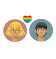 people icons in modern style with gay couple vector image vector image