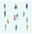 people set woman and man vector image vector image