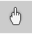 Pixelated gesture hand like negative icon vector image vector image