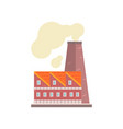 power plant or factory industrial manufactury vector image vector image