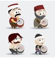 ramadan drummers vector image vector image