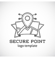 Safe Shield Point Abstract Logo Template vector image vector image