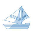 sailboat icon design vector image vector image