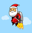 Santa Jetpack vector image vector image
