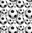 Seamless background design with footballs vector image