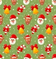 Seamless pattern with Santa Claus and Christmas vector image vector image