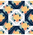seamless retro flowers pattern vector image vector image