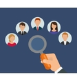 Search and find employment vector image vector image