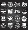set of fitness and skate board club concept with vector image