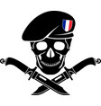 sign of special forces of france vector image vector image
