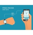 Smart Watch with Fitness application for health vector image
