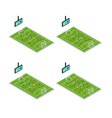soccer stadium competition icons set isometric vector image vector image