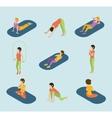 Sports Women Yoga Gym Gymnastics Workout Exercise vector image vector image