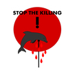 Stop the killing vector image vector image