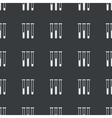 Straight black test-tubes pattern vector image vector image