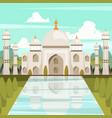 taj mahal mausoleum in india orthogonal vector image