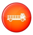 Truck icon flat style vector image vector image