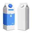 two milk carton with screw cap vector image vector image