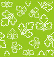vegetable leaves seamless pattern outline design vector image vector image