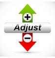 vertical adjustment adjust up down graphics vector image vector image