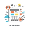 web optimization concept vector image