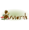 Womens day 8 march background composition EPS10 vector image