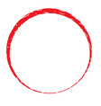 circle stamp frame on white background red circle vector image