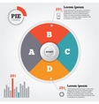 Infographics elements Pie chart Modern business vector image