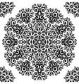 Ornate vintage black lacy seamless pattern vector image