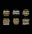 happy easter greeting card holiday label set vector image