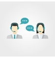 Icons set Male and female call center avatars vector image