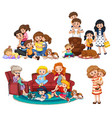 a set family member vector image