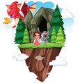 an isolated fantasy world vector image