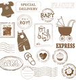 baby stamp collection vector image vector image