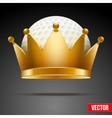 Background of Golf ball with royal crown vector image vector image