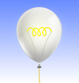 balloon in form an incandescent lamp vector image